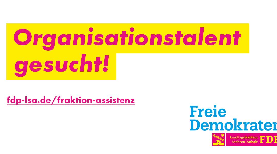Stellenausschreibung: Assistenz der Geschäftsstelle (FDP-Landtagsfraktion)